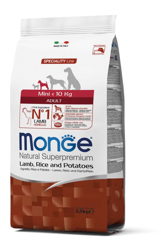 Monge Mini Adult Lamb – сухой корм с ягненком для взрослых собак мелких пород