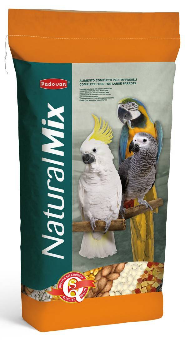 Padovan NaturalMix Pappagalli – суміш насіння та фруктів для великих папуг