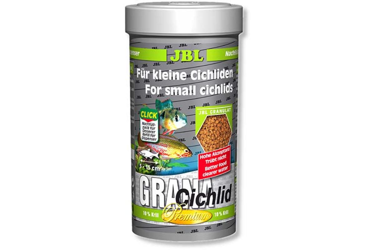 JBL GranaCichlid – основний корм у формі гранул для хижих цихлид