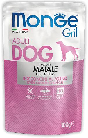 Monge Grill with Pork консервы со свининой для собак