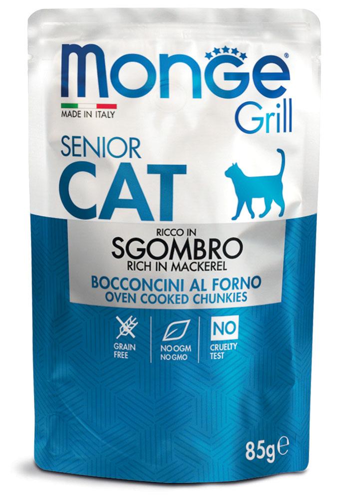 Monge Grill Senior консервы со скумбрией для пожилых котов