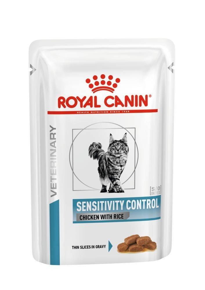 ROYAL CANIN SENSITIVITY CONTROL FELINE CHICKEN&RICE wet in gravy – лікувальний вологий корм, шматочки в соусі, для дорослих котів при харчовій непериносимості