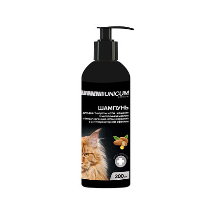 UNICUM premium – шампунь із мигдальним маслом для довгошерстих кішок