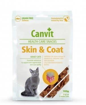 CANVIT Skin&Coat – полувлажные лакомства для взрослых котов для здоровья кожи и шерсти