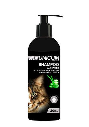 UNICUM premium – шампунь-кондиціонер з алое вера для котів