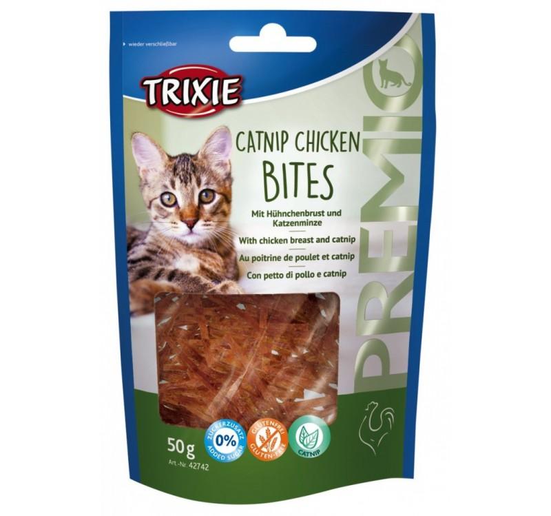 Trixie Premio Catnip Chicken Bites – ласощі для котів із курячим філе і котячою м'ятою