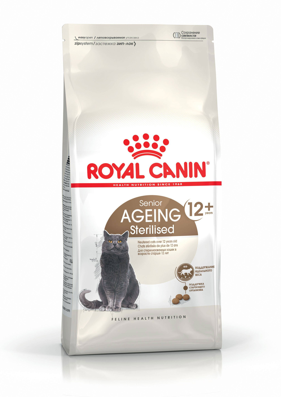 ROYAL CANIN AGEING STERILISED 12+ – сухой корм для стерилизованных котов старше 12 лет