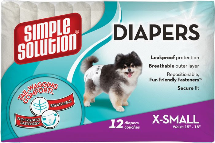 Simple Solution Disposable Diapers X-Small – підгузники для цуценят і собак дрібних порід