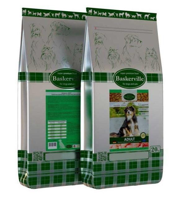 BASKERVILLE ADULT – сухой корм для взрослых собак с курицей