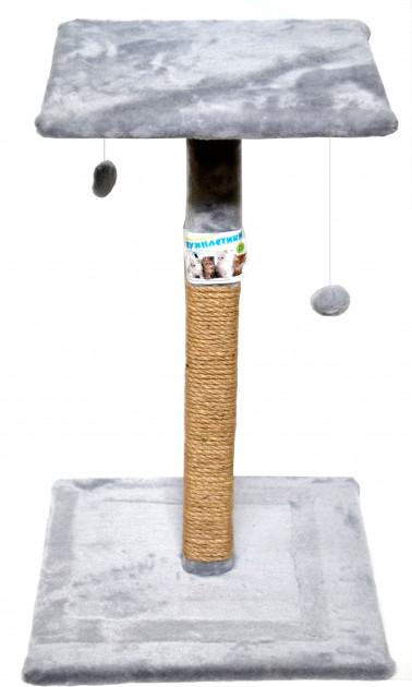 Пушистик когтеточка, большой столбик с полкой, 75×45