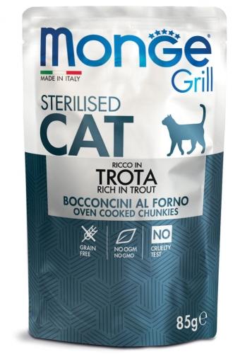Monge Grill Sterilised консервы с форелью для стерилизованных котов