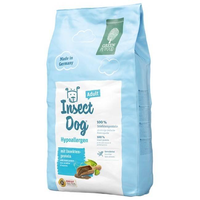 GREEN PETFOOD INSECTDOG HYPOALLERGEN ADULT – гипоаллергенный вегетарианский сухой корм для взрослых собак