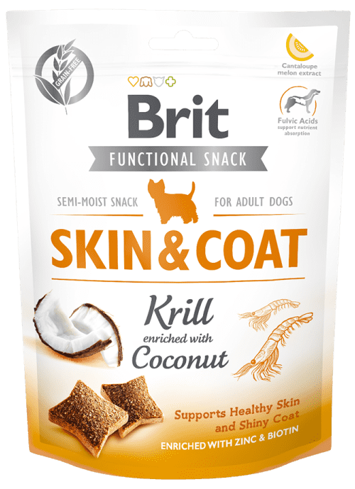 BRIT CARE SKIN&COAT KRILL – лакомство для кожи и шерсти собак