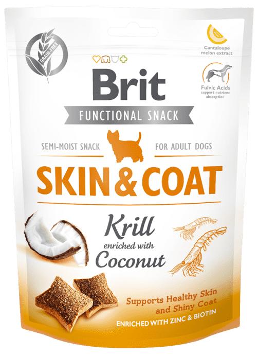 BRIT CARE SKIN&COAT KRILL – лакомство для кожи и шерсти собак