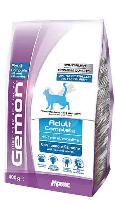 GEMON CAT ADULT COMPLETE сухой корм для взрослых котов с тунцом и лососем