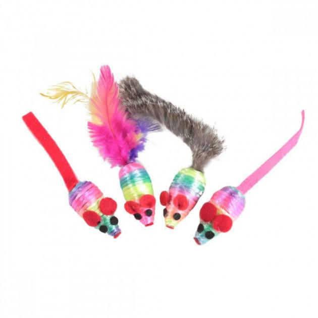 FOX набор разноцветных игрушек для котов