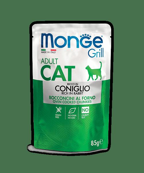 Monge Grill консервы с кроликом для взрослых котов