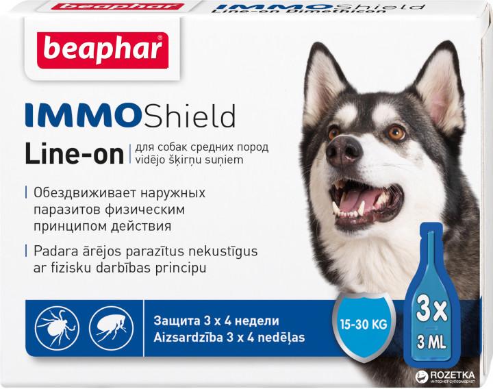 Beaphar IMMO Shield капли от блох и клещей для собак весом от 15 до 30 кг