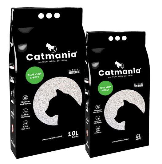 Catmania Aloe Vera – комкующийся наполнитель для кошачьего туалета с алоэ вера