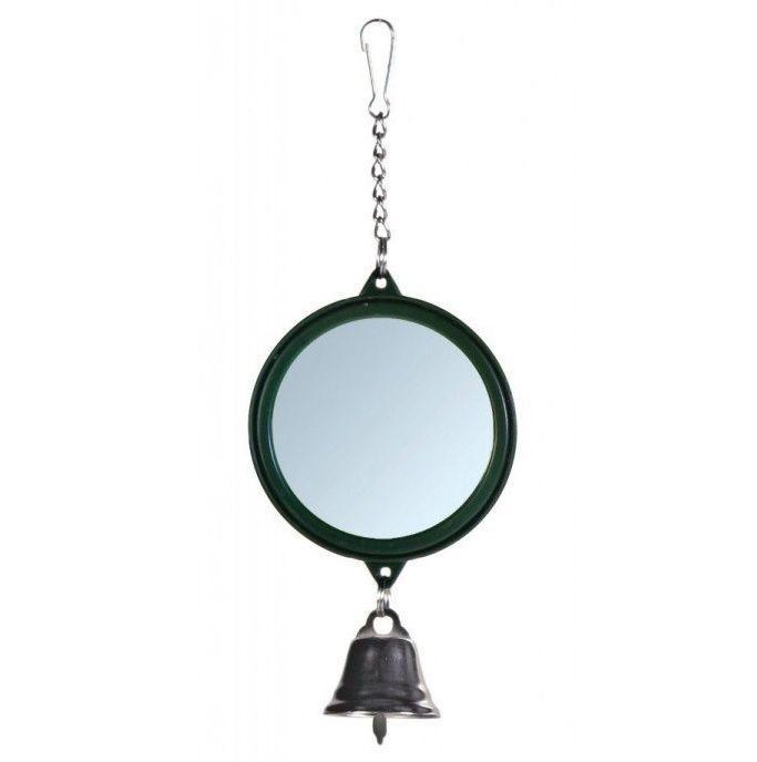 Trixie зеркало с колокольчиком из пластика для птичьих клеток