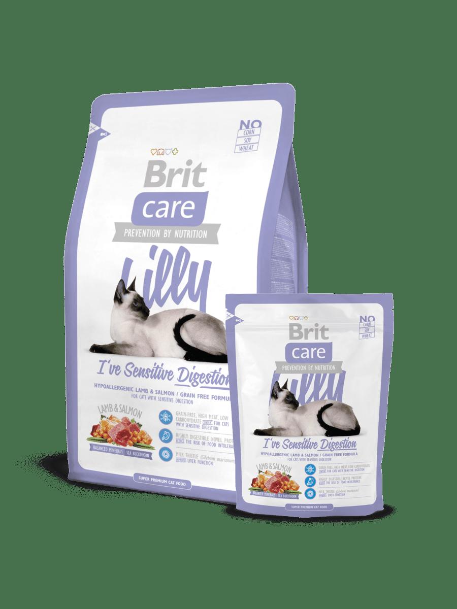 BRIT CARE CAT LILLY I'VE SENSITIVE DIGESTION – беззерновий сухий корм для котів із чутливим травленням