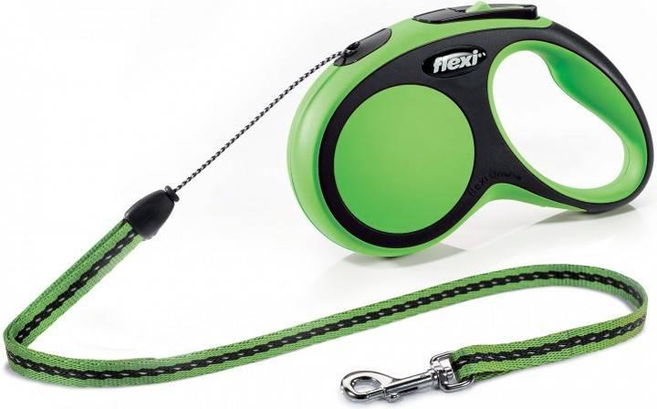 Flexi New Comfort S – поводок-рулетка для собак до 12 кг, трос 5 м