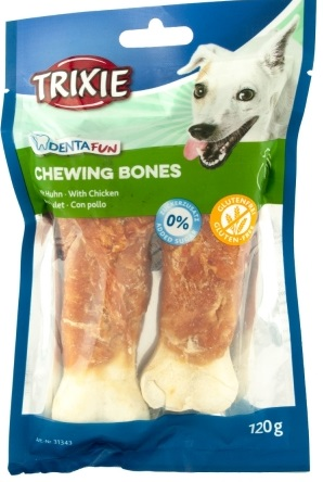 Trixie Denta Fun Chewing Bones – кость из сыромятной кожи для собак