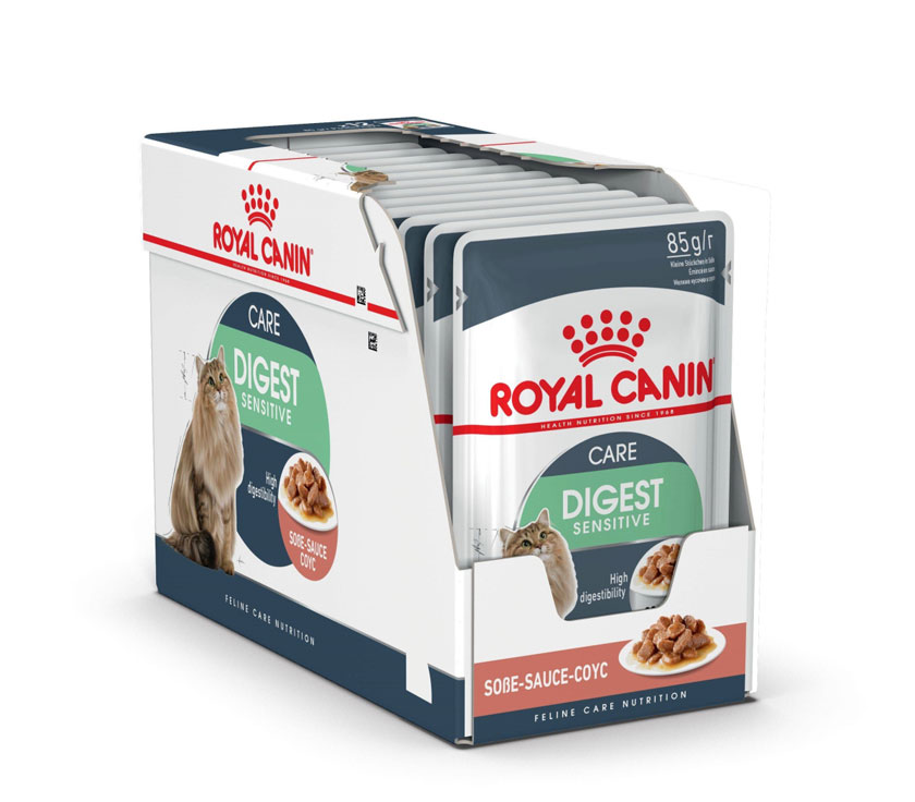 ROYAL CANIN DIGEST SENSITIVE CARE wet in gravy – влажный корм для взрослых котов с чувствительным пищеварением
