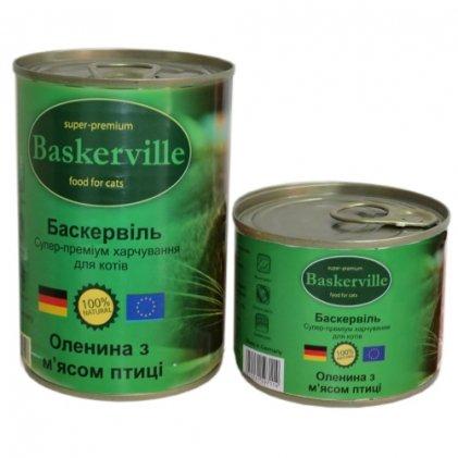 Baskerville консервы с олениной и курицей для взрослых котов