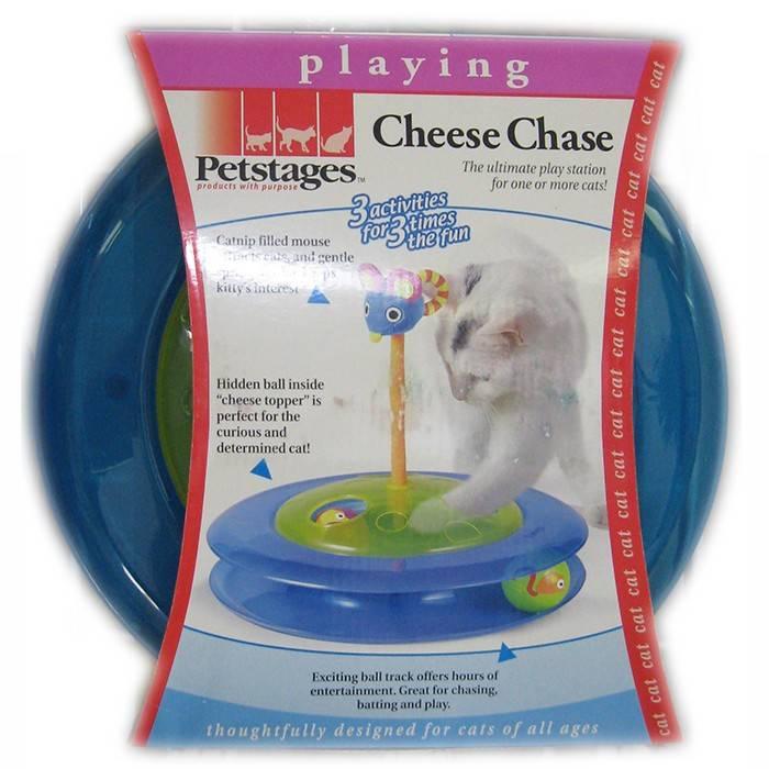 PETSTAGES інтерактивна іграшка для котів, трек із м'ячиком
