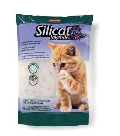 Padovan Silicat Lavender – наполнитель для кошачьих туалетов с ароматом лаванды