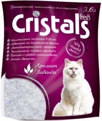 CRISTALS Fresh – наповнювач із лавандою для котячих туалетів