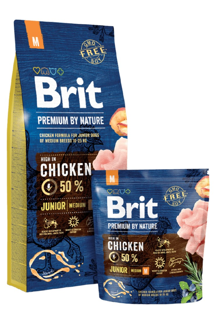BRIT PREMIUM JUNIOR М – сухой корм для щенков средних пород