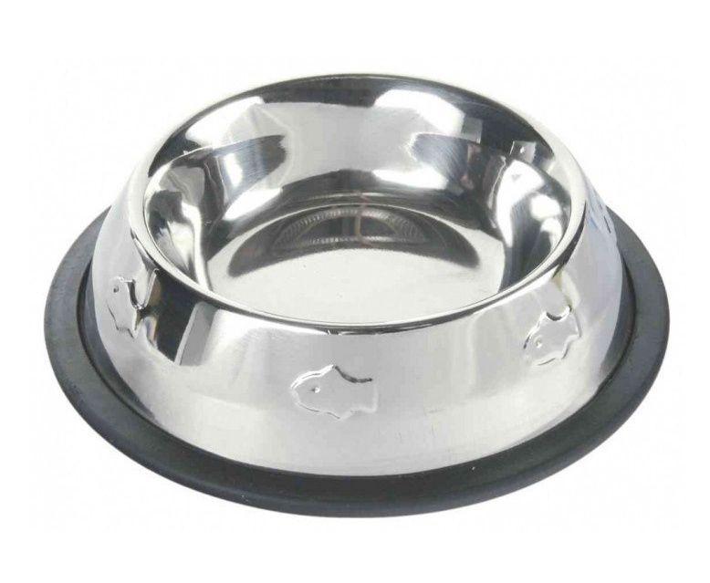 Trixie металева миска на гумі з карбуванням