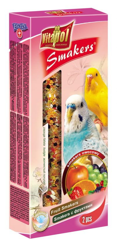 Vitapol ласощі для папуг з фруктами