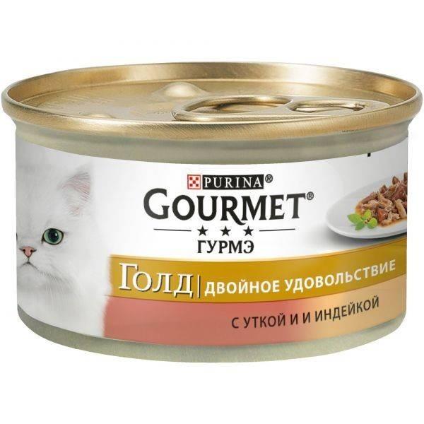 GOURMET Gold Duo – консерва с уткой и индейкой для взрослых котов