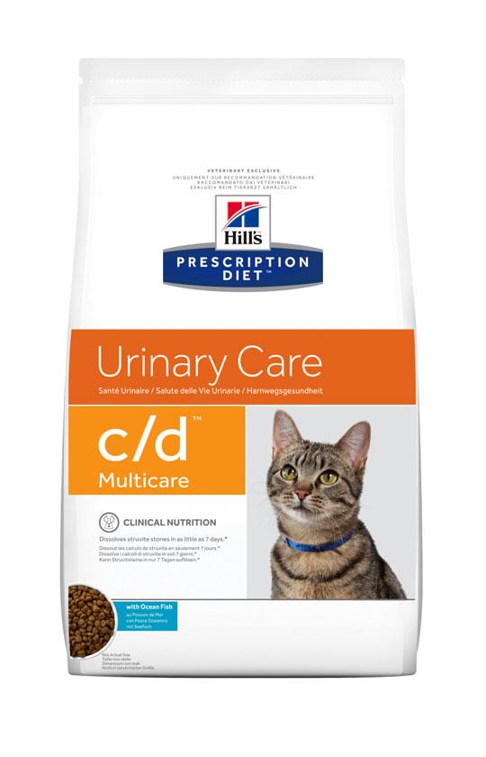 HILL'S PRESCRIPTION DIET C/D MULTICARE URINARY лечебный сухой корм с океанической рыбой для кошек с заболеваниями мочевыводящих путей