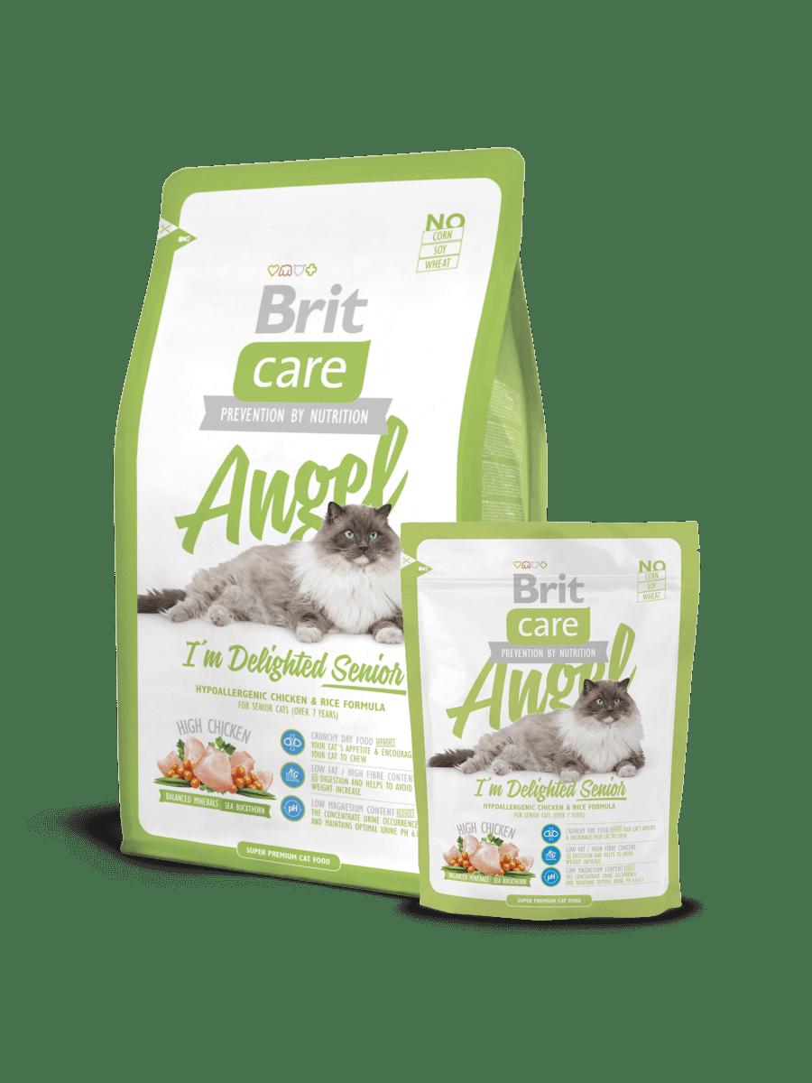 BRIT CARE CAT ANGEL I'M DELIGHTED SENIOR – сухий корм для кішок похилого віку (від 7 років)