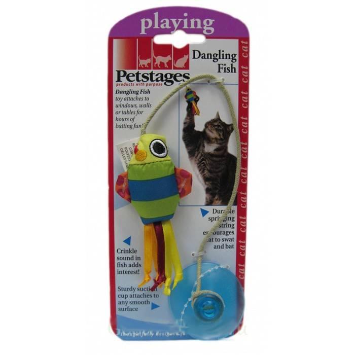 PETSTAGES іграшка-рибка на присосці для котів