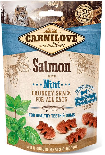 Carnilove Cat Crunchy Snack ласощі з лососем і м'ятою для котів