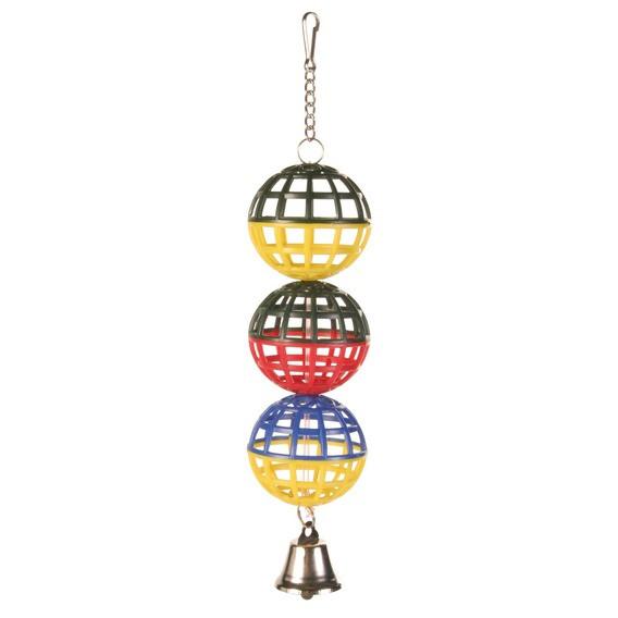 Trixie игрушка из трёх пластмассовых шариков с колокольчиком