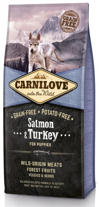 Carnilove Puppy Salmon & Turkey – беззерновой сухой корм  с лососем и индейкой для щенков всех пород