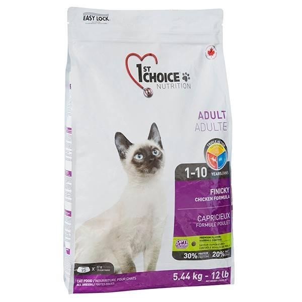 1ST CHOICE ADULT FINICKY CHICKEN – сухой корм с курицей для взрослых привередливых котов