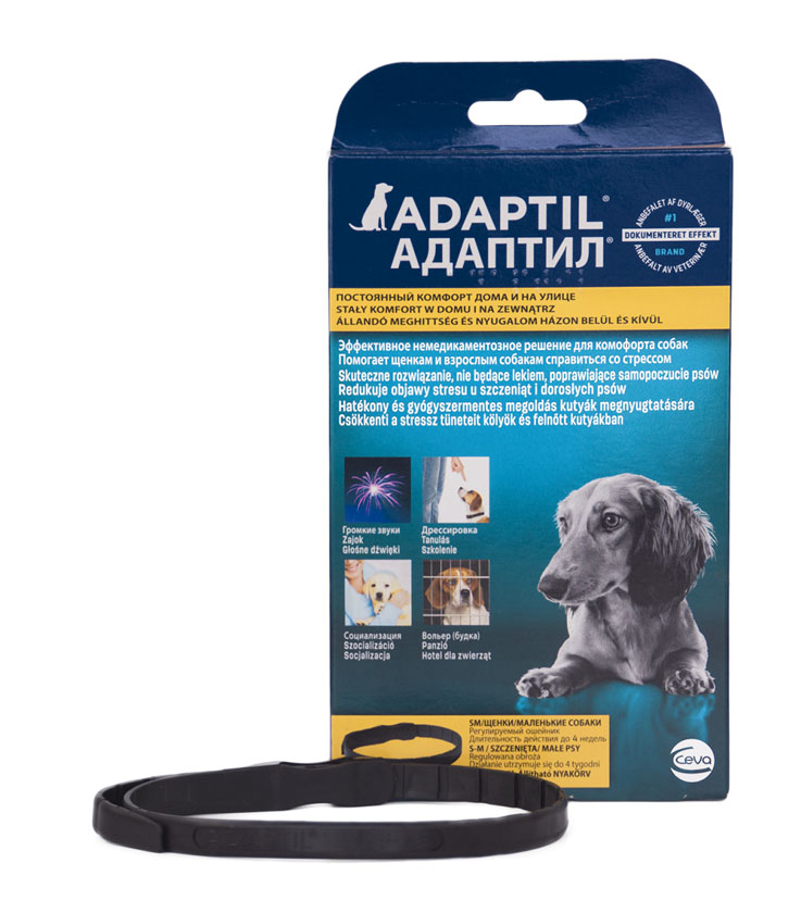Adaptil успокаивающий ошейник для собак и щенков с феромонами