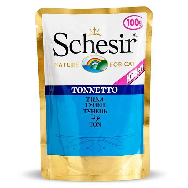Schesir Tuna Kitten влажный корм с тунцом для котят