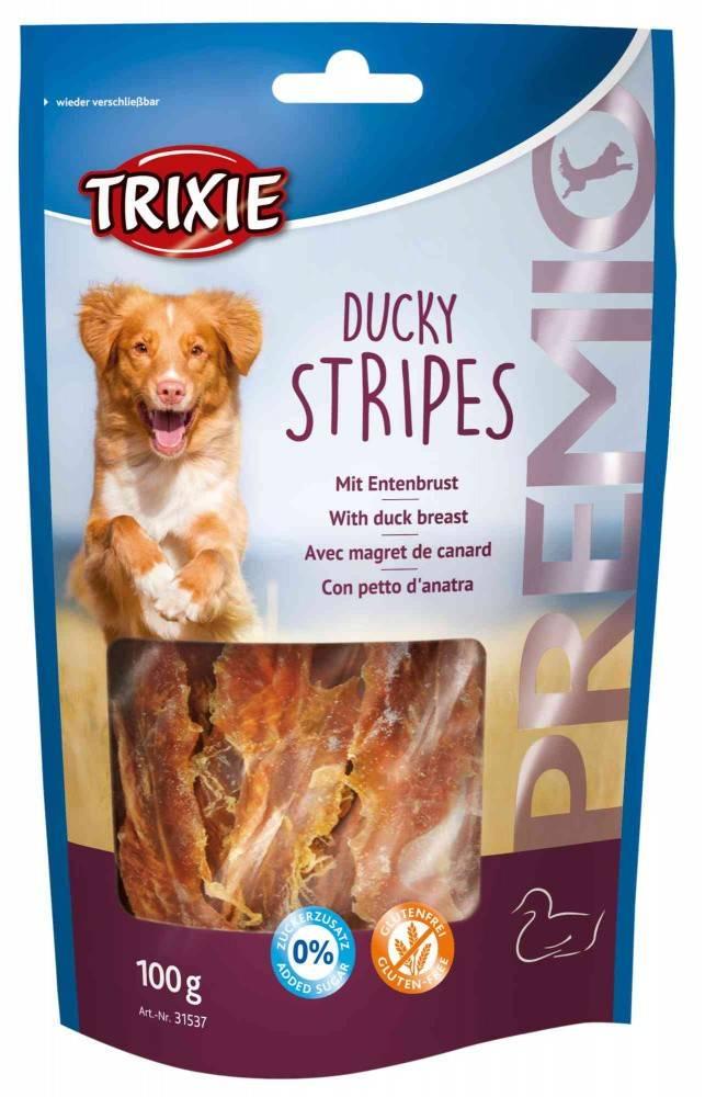 Trixie Premio Ducky Stripes – м'які ласощі з качиними грудками для собак