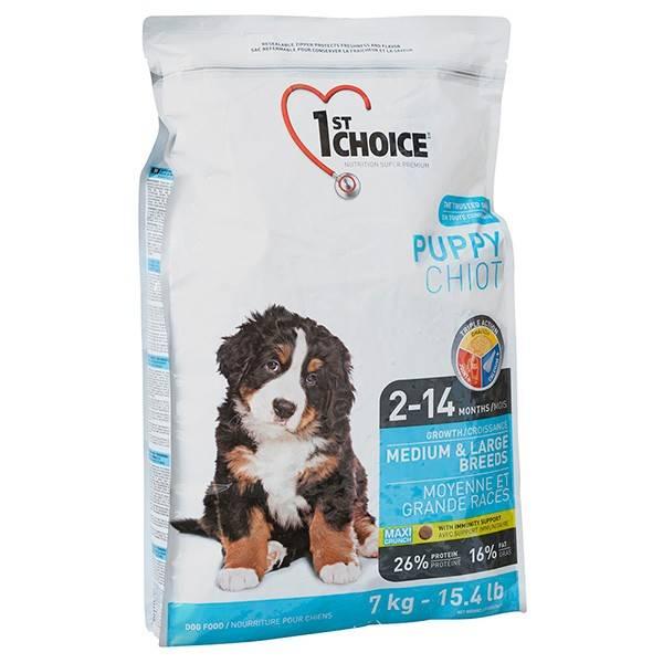 1ST CHOICE PUPPY MEDIUM & LARGE CHICKEN – сухой корм с курицей для щенков средних и больших пород