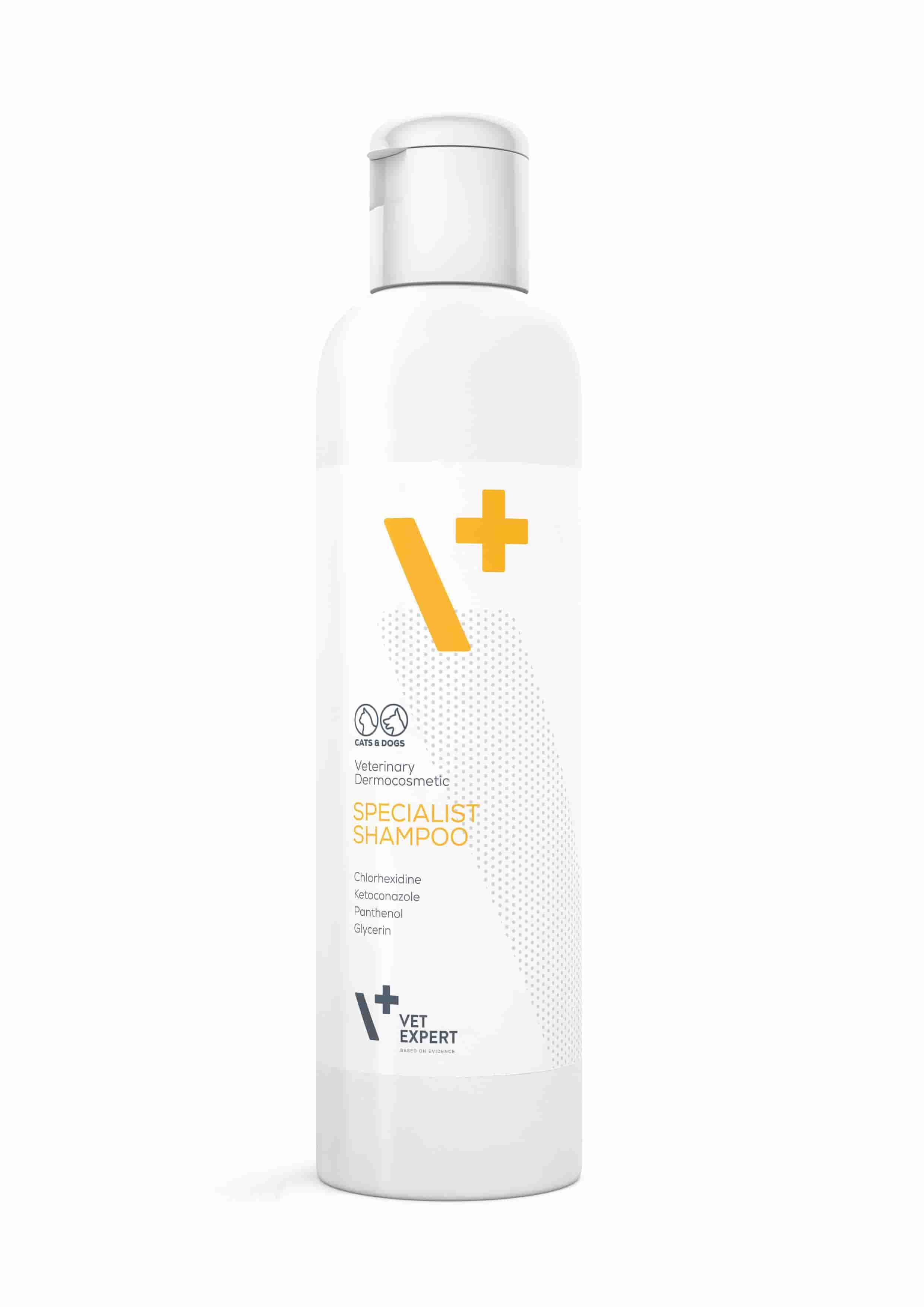 VetExpert Specialist Shampoo – антибактериальный противогрибковый шампунь для котов и собак