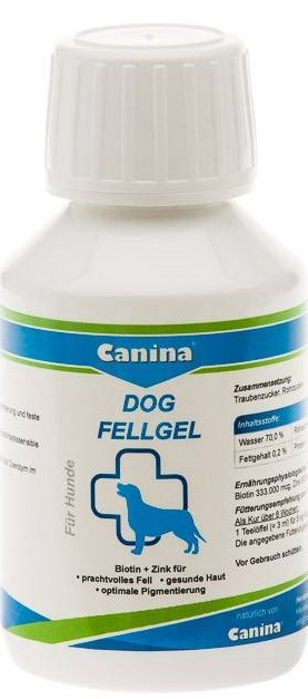 Canina Dog FellGel – кормовая добавка для собак для шерсти и кожи