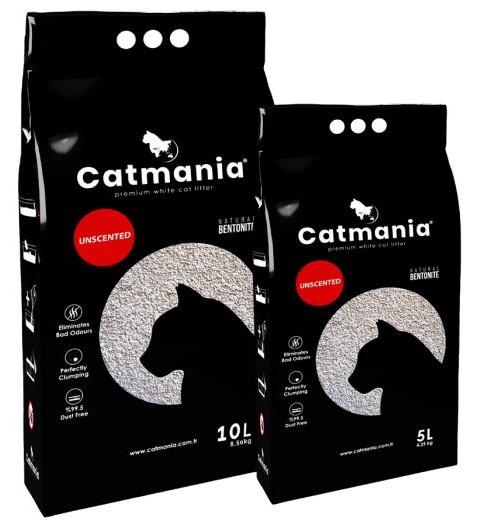 Catmania Unscented – натуральний бентонітовий наповнювач для котячого туалету
